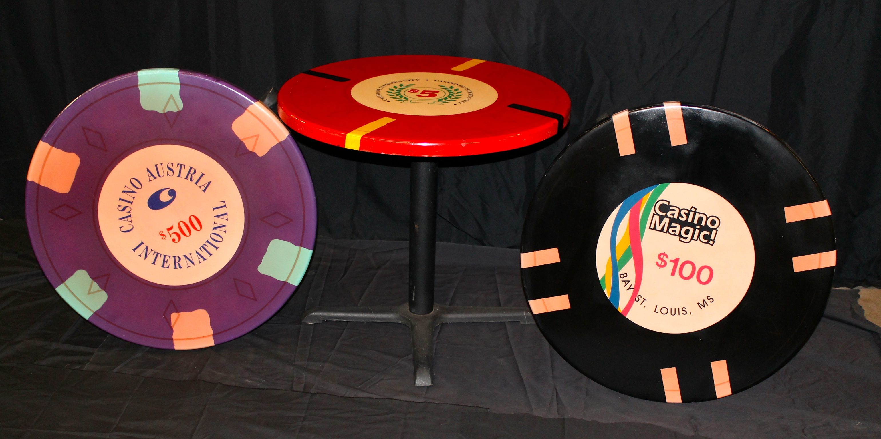 casino chips cocktail table