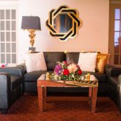 Black modern chic wedding furniture, couches and tables | The Prop Shop, Pittsburgh PA furniture, decor and prop rentals
