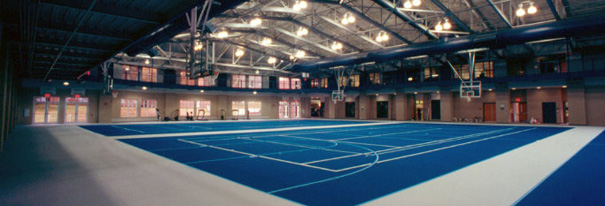 Allegheny College Wise Center blue court | The Prop Shop, Pittsburgh event furniture and props